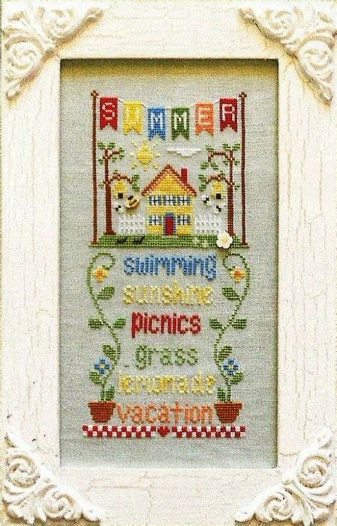 country cottage needleworks quot summer quot cross stitch