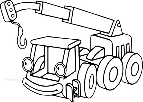 bob the builder coloring pages bob the builder lofty coloring page wecoloringpage