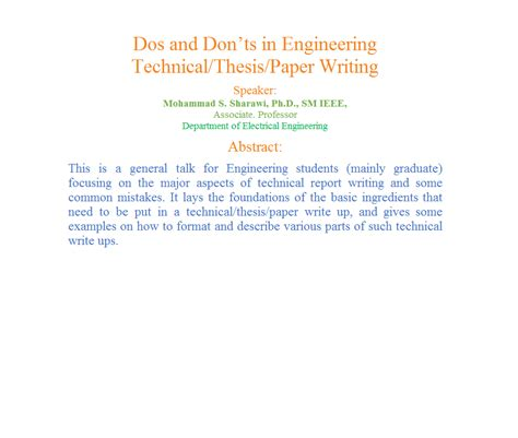 Recommendation Letter Kfupm Technical Report Writing For Engineering Students