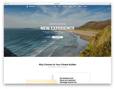 Adventure Free Travel Agency Website Template Colorlib Adventure Website Templates