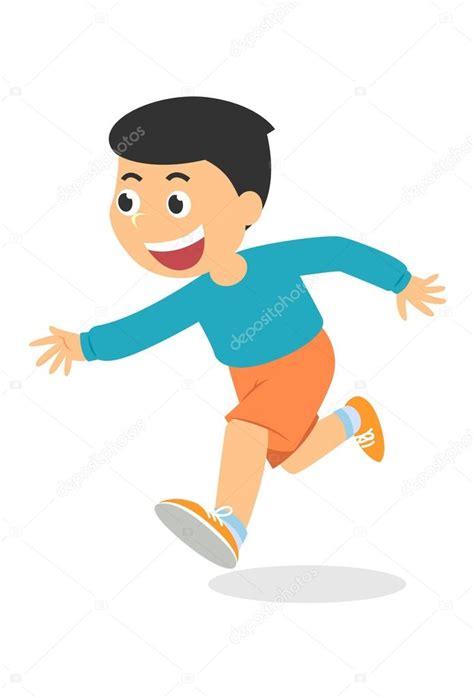 imagenes niños corriendo ni 241 o de dibujos animados corriendo vector vector de