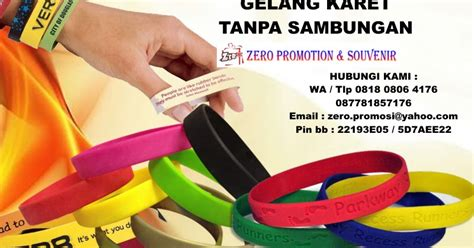 jual gelang karet promosi rubber wrist band gelang tanpa