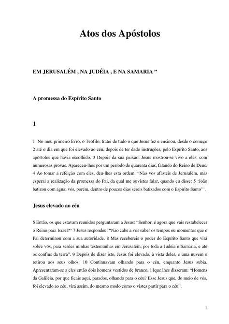 Atos dos apóstolos by Thiago Valente - Issuu
