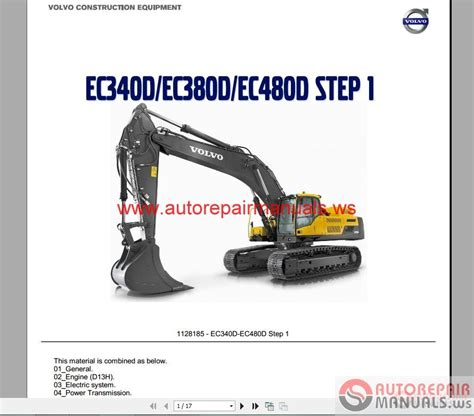 volvo excavator ecdecdecd service training auto repair manual forum heavy