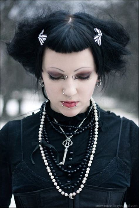 old goth bangs hairstyle stylish gothic piercings piercingeasily com