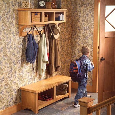 build  entryway coat rack  storage bench