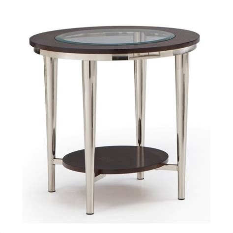 round glass top accent table steve silver company norton 23 inch round glass top end