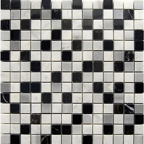 marble mosaic tiles black white and grey 300 x 300mm