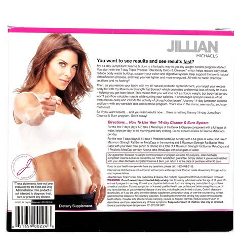 Jillian Cleanse And Detox by Jillian 14 Day Cleanse And Burn 3 Part System
