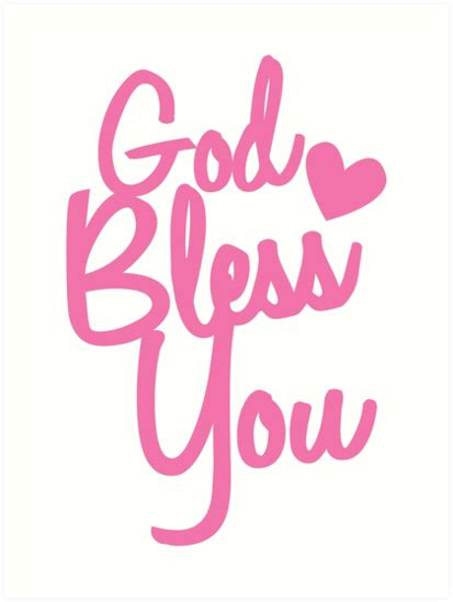 quot god bless you in pink quot art prints by jazzydevil redbubble