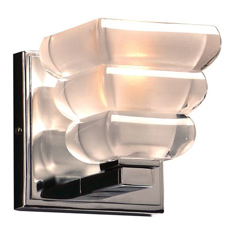 Modern Chrome Sconces Plc 32051pc Titan Modern Polished Chrome Wall Sconce Plc