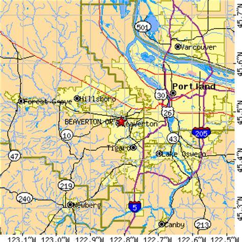 map of oregon beaverton beaverton oregon or population data races housing