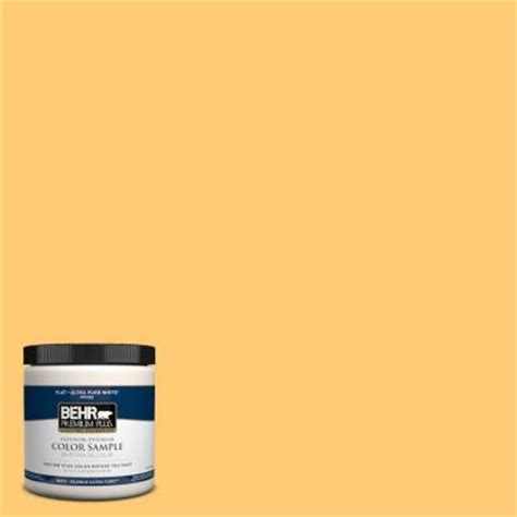 behr premium plus 8 oz 310b 5 spiced butternut interior exterior paint sle 310b 5pp the