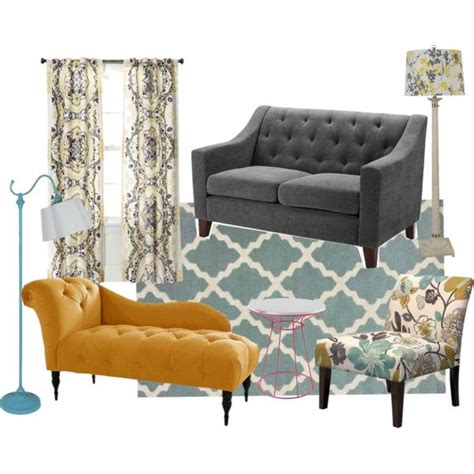 Yellow Gray And Blue Living Room by Blue 11 Interiors September 2013