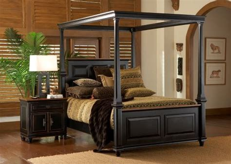 wood canopy bedroom sets dark wood canopy bedroom set feather our nest pinterest
