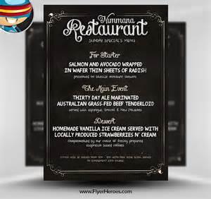 menu flyers free templates free chalk board menu psd flyer template