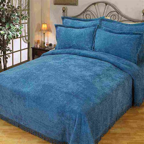 blue bed spread blue chenille bedspread decor ideasdecor ideas