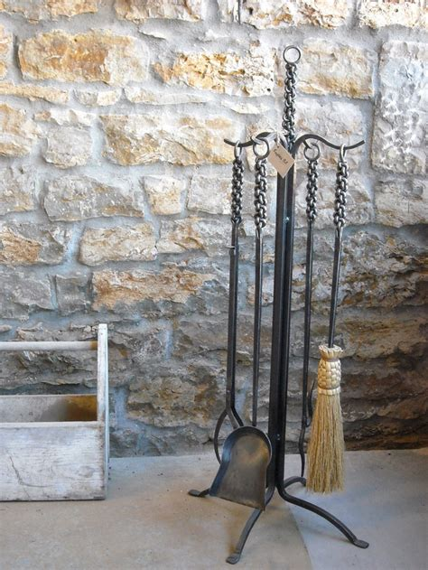 Blacksmith Made Fireplace Tools by Braided Iron Fireplace Hearth Tool Set Heirloom Quality