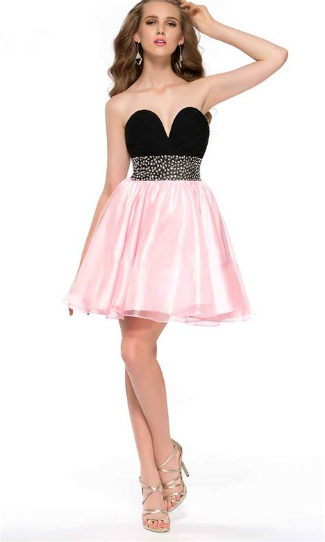 Black and pink sweetheart empire short prom dresses ksp391 ksp391