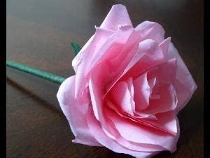 How To Make Paper Roses Out Of Tissue Paper - how to make a tissue flower in the wine glass