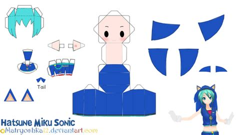Papercraft Sonic - pin sonic paper craft pdf on