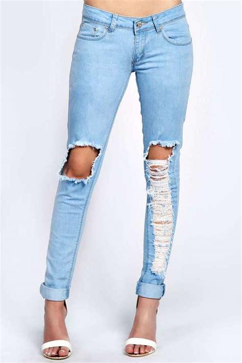 light wash blue ripped jeans light blue skinny ripped jeans ye jean