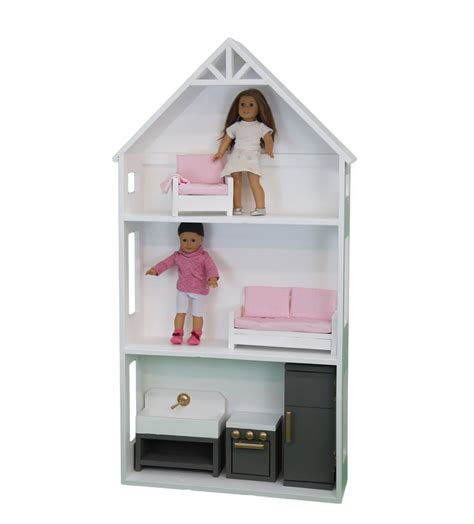 dollhouse for 4 inch dolls white smaller three story dollhouse for 18 quot and
