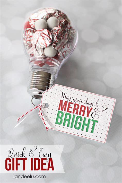merry  bright gift idea  printable tag landeelucom