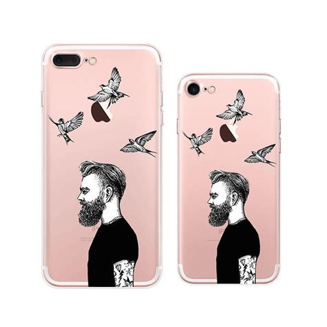 cool man iphone   soft clear cases mavasoap