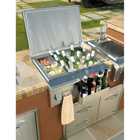 Backyard Patio Bar Oci 27 Inch Drop In Ice Bin Cooler Shopperschoice Com