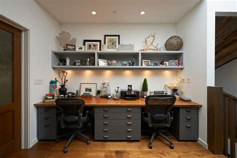 open home office office breakfast ideas home office contemporary with built