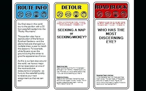 the amazing race clue template amazing race clues template