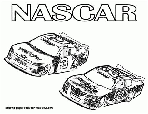 nascar coloring page of dale earnhardt jr vs joey logano