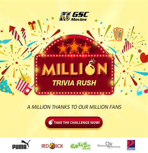 Online Contests And Giveaways - million trivia rush contest and giveaways gsc movies
