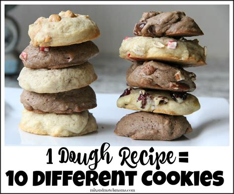 christmas dough recipe one dough recipe 10 different cookies mix and match