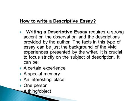 sle descriptive essay sle of descriptive essay about a place 28 images sle