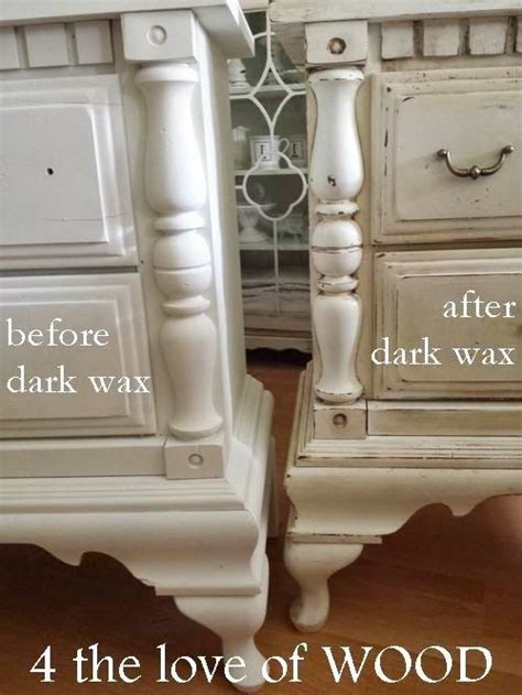 furniture wax over white paint 4 the love of wood using dark wax on white paint video