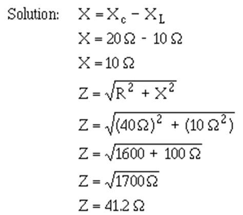 capacitive reactance abbreviation impedance