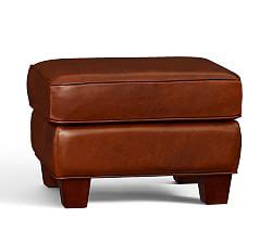sullivan leather rectangular ottoman sullivan leather rectangular ottoman pottery barn