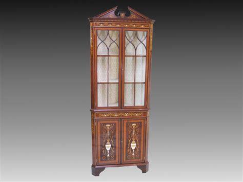 Cabinet Corner Ivory Mahogany Tp002 edwardian mahogany corner cabinet