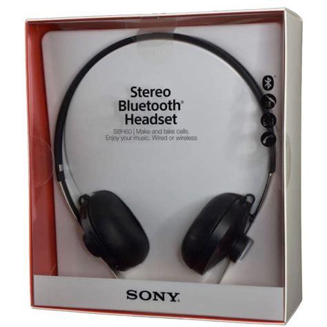 Headset Bluetooth Sony Sbh60 Sony Aud 237 Fonos Stereo Bluetooth Headset Sbh60 Prophone