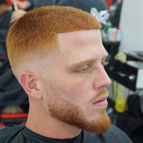 fade haircut on a person with red hair men s short hair ideas very cool