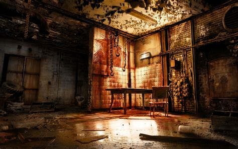 creepy room alone in the horror scary creepy spooky blood room macabre reflection gross evil rust table
