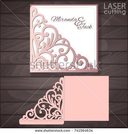 Die Cut Card Templates by Die Laser Cut Wedding Card Vector Template Invitation