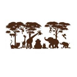 Zoo Animal Wall Stickers jungle animal silhouette clipart clipart suggest