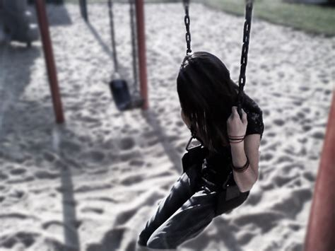 girl in swing girl on swing by mudvayne018 on deviantart
