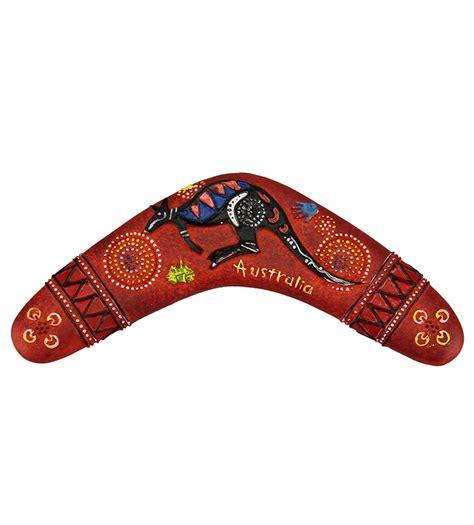 Boomerang Dot Art Red Magnet   Australia The Gift