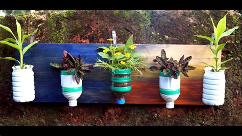 diy plastic bottles vertical garden