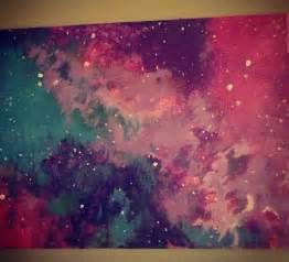 galaxy painting diy pinterest