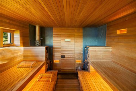 Sauna Design Ideas by Wooden Sauna Welcomes Guests To Sweat Out The Stress Of The City 6sqft
